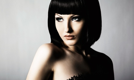 $59 for a Haircut, Style, and Color or Partial Highlights at Thru Luna's Eyes Hair Studio ($185 Value)