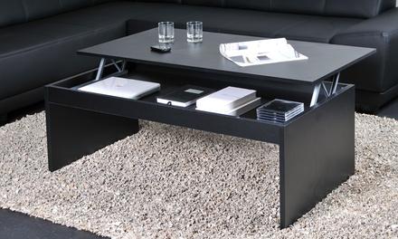 Table basse plateau escamotable, dimension, modèle et coloris au choix
