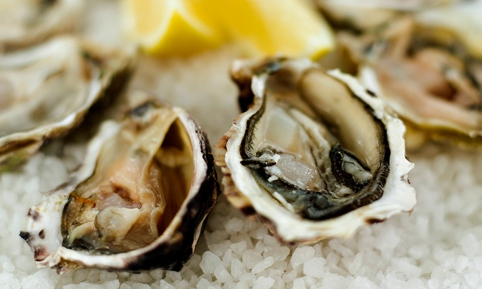 the DOCKS seafood + steak + oyster bar - On the Harbour: Two or Four Dozen Oysters at the DOCKS seafood + steak + oyster bar (Up to 54% Off)
