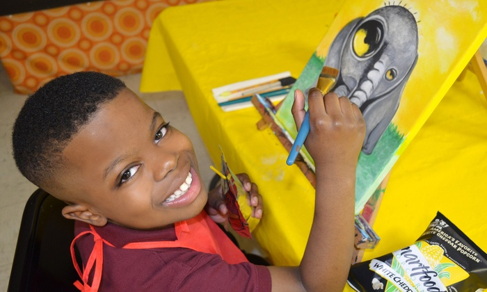Seven Arts Center - Seven Arts Center: Kids Painting Class for Two, Four, or Six at Seven Arts Center (Up to 63% Off)
