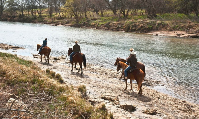 Brazos Bluffs Ranch - Elm Mott: One-Hour Horseback Trail Ride for Two or Four at Brazos Bluffs Ranch (Up to 39% Off)