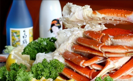$29 for Seafood Meal with Wine or Beer for Two at Hokkaido Seafood Buffet (Up to $50 Value)