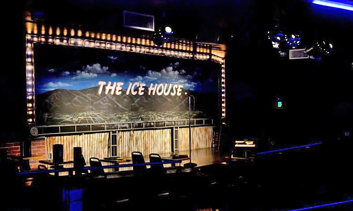 The Ice House - The Ice House Comedy Club: Standup for Two Plus $10 Worth of Food and Two Tickets to a Future Show at The Ice House (Up to 80% Off)