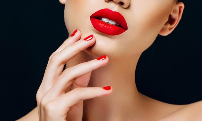 Salon LaLa - Huntington Beach : One or Two Sea Salt Scrub Gel Manicures at Salon LaLa (Up to 52% Off)