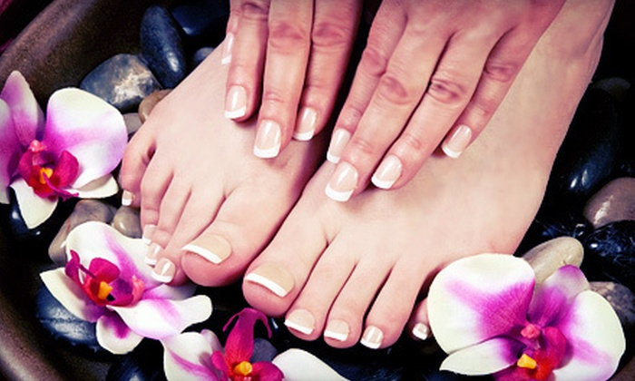 Angel Tips - New Rochelle: Regular or Gel Manicure, Lemon Pedicure, and Eyebrow, Lip, or Chin Wax at Angel Tips (Up to 57% Off)