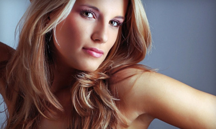 Faccia Bella - Colonie: Men's and Women's Haircuts, Color, and Keratin Treatments at Faccia Bella (Up to 60% Off). Four Options Available.