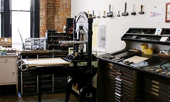 Poster-Printing Class - Interbay: Design and Print Your Own Letterpress Poster with an Antique Printing Press