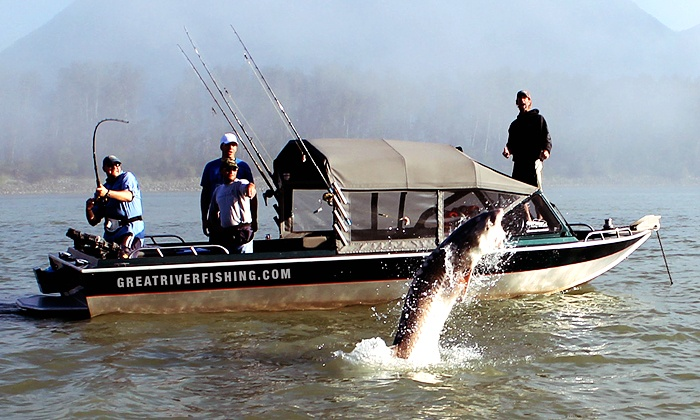 Great River Fishing Adventures - Chilliwack: Sturgeon-Fishing Trip for 2, Private Sturgeon-Fishing Trip for 4, or Steelhead-Fishing Trip for 3 (Up to 61% Off)