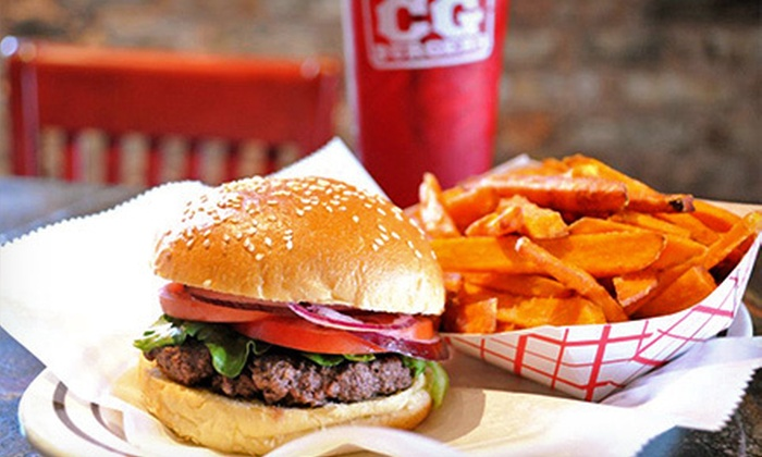 CG Burgers - Kendall: $17 for Five $7 Vouchers for Burgers and All-American Classics at CG Burgers ($35 Value)