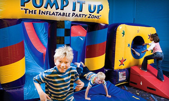 Pump It Up - Pump it up of Crystal Lake: 5 or 10 Pop-In Bounce-House Play Sessions at Pump It Up in Crystal Lake (Half Off)