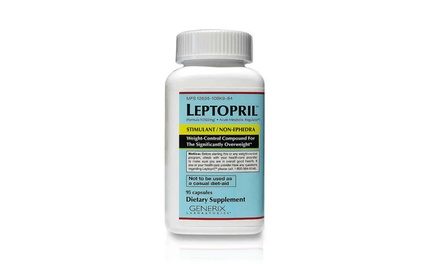 47-Serving Bottle of Basic Research Leptopril Weight Loss Supplements