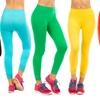 6-Pack of Capri Leggings with Laced Hem