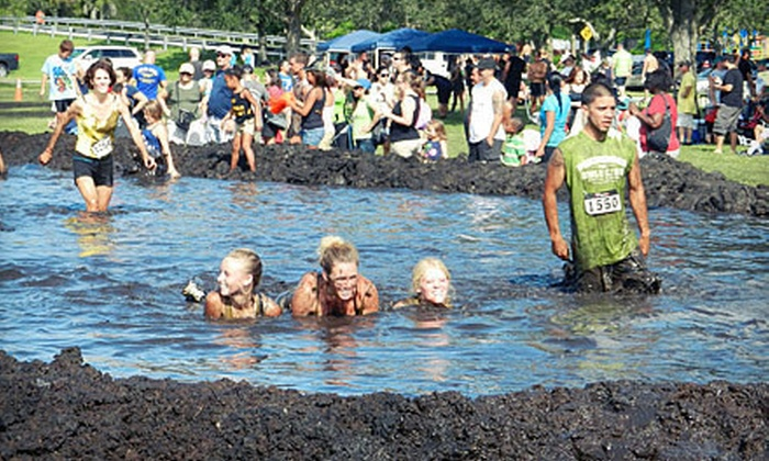 Mud Dogs - Peach Creek Estates: $40 for a 5K or 10K Race Registration to Mud Dogs on Saturday, May 11, and a T-shirt (Up to $80 Value)