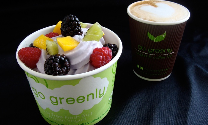 Go Greenly - Roslyn: Frozen Yogurt and Coffee at Go Greenly (Up to 52% Off). Two Options Available.