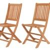 International Home Miami Teak Folding Chairs (Set of 2)