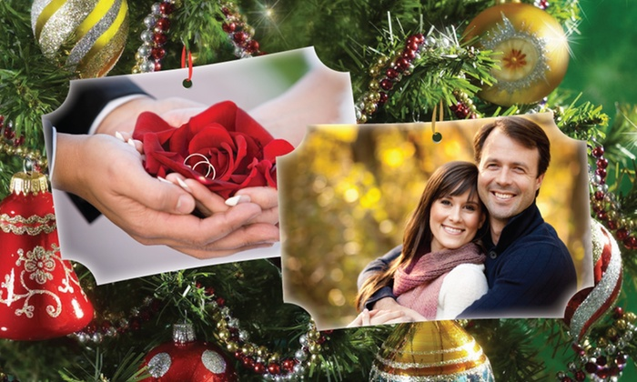 Inkdoodle: Custom Photo Ornaments from Inkdoodle (Up to 55% Off)