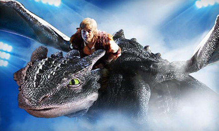 """""""How to Train Your Dragon Live Spectacular"""" - East Rutherford: """"How to Train Your Dragon Live Spectacular"""" at Izod Center (Up to 40% Off). 12 Options Available."""