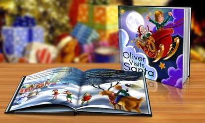 image for Softcover or Hardcover Personalised Christmas Storybook from Dinkleboo (Up to 80% Off)