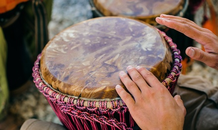 Chant and Drum in a Rhythm Circle Led by a Pro Musician