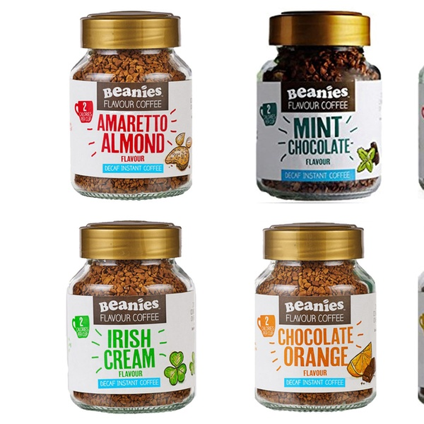 Six Jars Of Instant Beanies Flavoured Coffee