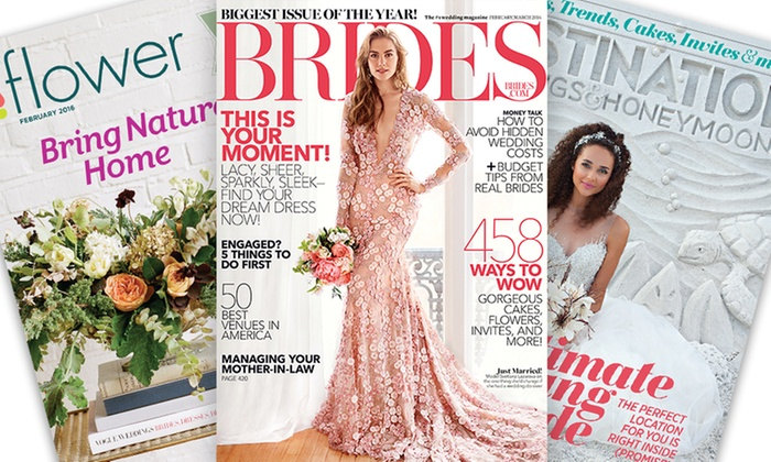 1-Year Bridal Magazine Subscriptions; Titles Include Brides, Bridal Guide, Flower, and More (Up to 60% Off)