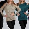 Women's Open Shoulder Dolman Sleeve Tunic