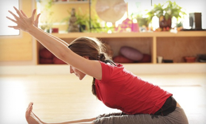 Baltimore Yoga Village - Multiple Locations: 5, 10, or 20 Drop-In Yoga Classes with Instructional and Meditative Yoga CD at Baltimore Yoga Village (Up to 80% Off)