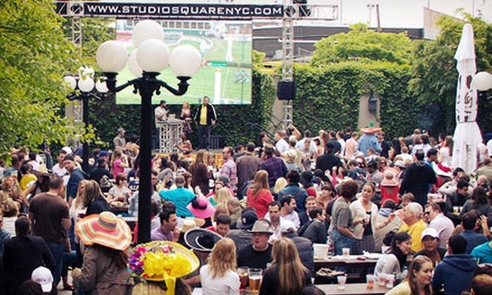 Studio Square NYC - The Garden at Studio Square: $25 for Kentucky Derby Event with Wings and Pitcher of Mint Juleps at Studio Square NYC on Saturday, May 4 ($60 Value)