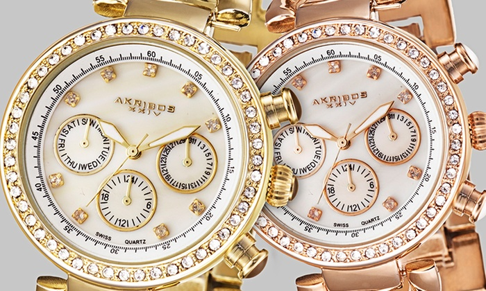 Akribos XXIV Women's Multifunction Watch: Akribos XXIV Women's Multifunction Watches (Up to 89% Off). Multiple Styles Available. Free Shipping and Returns.