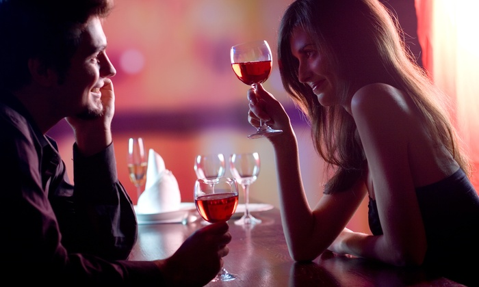 Groupon Mystery Date - Downtown: $35 for a Romantic Dinner for Two at a Mystery Location Near Theater District (Up to $79 Total Value)