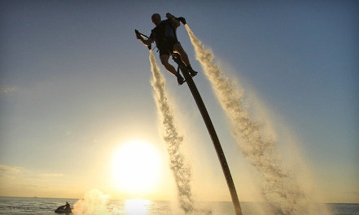 Jetlev Southwest - Jetpack America - Newport Beach: Weekday or Weekend 20-Minute Water-Powered Jetpack-Flight Experience at Jetlev Southwest (Up to Half Off)