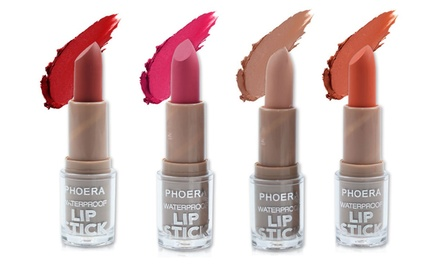 One or Two Phoera Waterproof Non-Stick Lipsticks