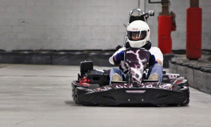 American Indoor Karting - Holland: Adult or Junior Go-Kart Races at American Indoor Karting (Up to 59% Off). Six Options Available.