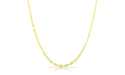 Unisex Diamond-Cut Valentino Star Chain in 14K Gold
