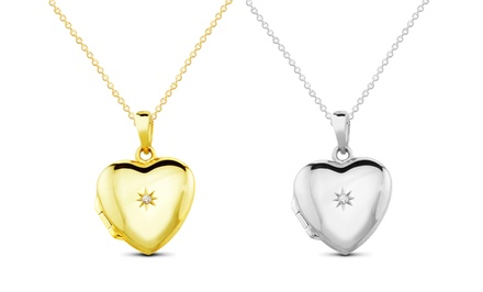 Sterling Silver or 18K Gold-Plated Heart Locket