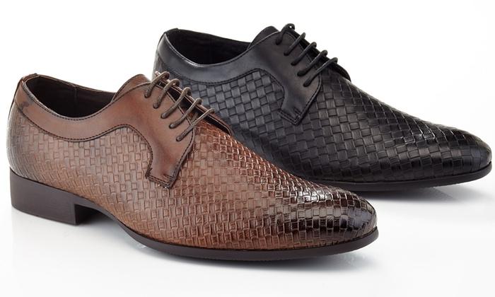 Franco Vanucci Men's Woven Lace-up Dress Shoes