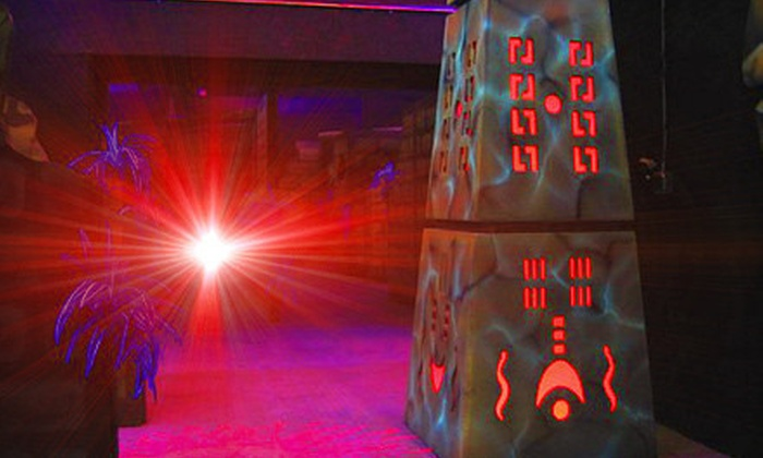 Amazone Family Entertainment Center - Medina: Playground Admission or Laser Tag at Amazone Family Entertainment Center in Medina (Up to Half Off). Two Options Available.