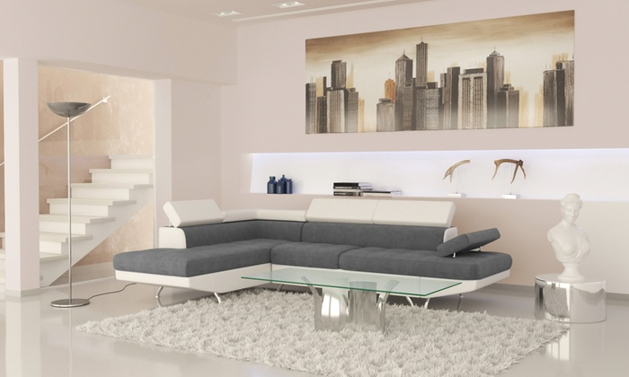 Canapé d'angle convertible   Groupon Shopping