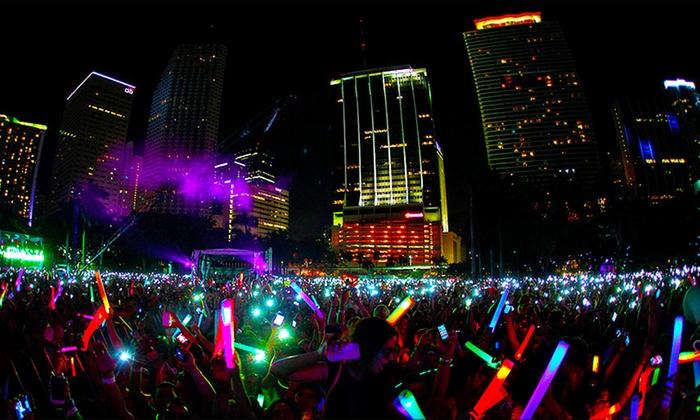 Night Nation Run - Sam Houston Race Park: $29 for Night Nation Run - Running Music Festival 5K Entry on November 15 ($60 Value)