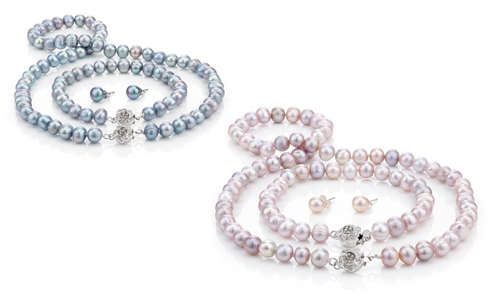 collier perle groupon