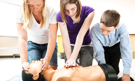 Basic CPR/Basic Life Support Class with Optional First-Aid Class at CPR and More (Up to 50% Off)