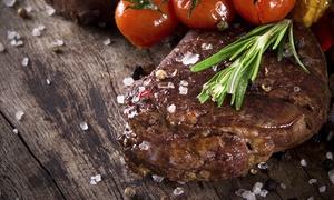 """Corner Restaurant: 4-Gänge-Menü """"Corner Steak"""" inkl. Vorspeisenplatte für 2, 4 oder 6 Personen im Corner Restaurant (bis zu 56% sparen*)"""