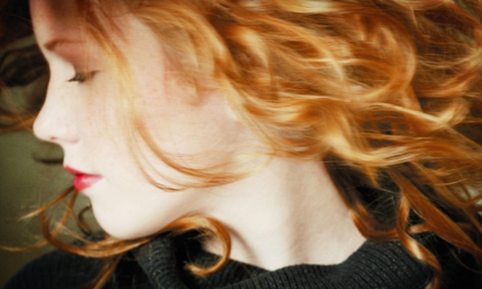 Gemmette Hair Studio - Multiple Locations: Haircut with Optional Partial Highlights or Full Highlights or Lowlights at Gemmette Hair Studio (Up to 69% Off)