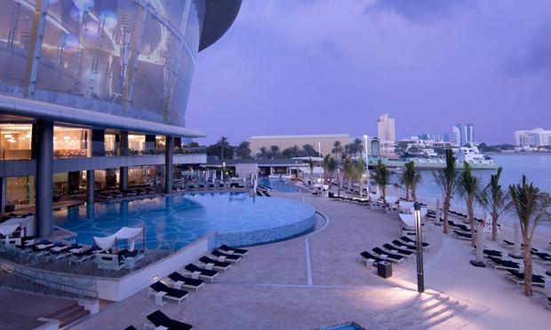 Nahaam jumierah hotel at etihad towers in abu dhabi groupon for Swimming pool offers in abu dhabi