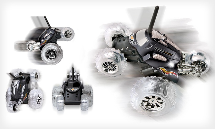 The Black Series Spinning Monster Car: $12 for Thunder Tumbler Remote-Controlled Spinning Monster Car in Black, Blue, or Red ($29.99 List Price). Free Returns.
