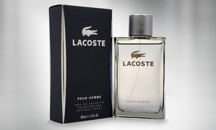 groupon daily deal - Lacoste Pour Homme Men's Eau de Toilette; 3.3 Fl. Oz.