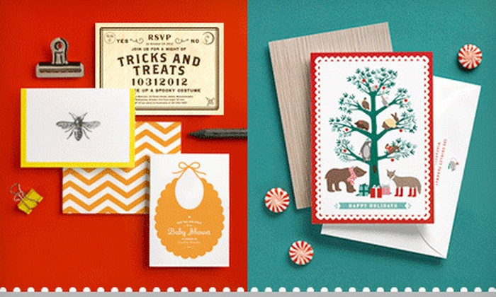 Folded Words: Custom Eco-Friendly Cards and Stationery from Folded Words (Up to 70% Off). Three Options Available.