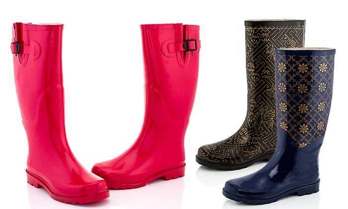 Rasolli Carol Women's Rain Boots   Groupon Goods