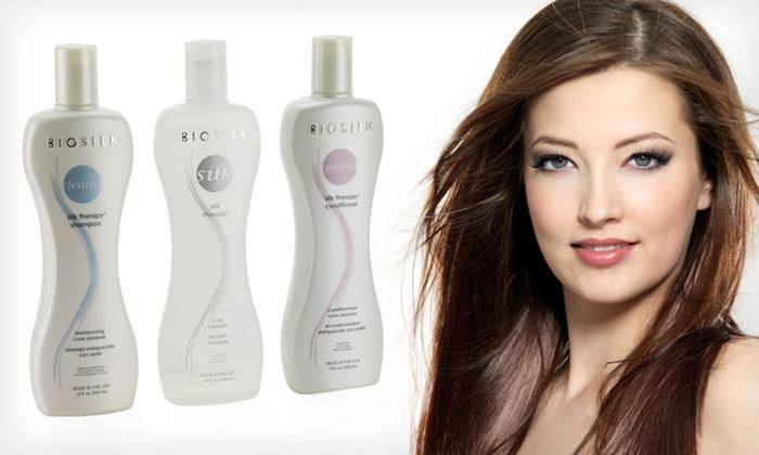 BioSilk Shampoo, Conditioner, and Serum: $29.99 for BioSilk Hair Therapy Shampoo, Conditioner, and Silk Serum ($67.99 List Price). Free Shipping.