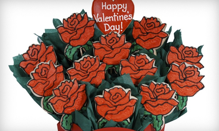 Cookies By Design - Santee: 13-Cookie Bouquet or 13-Inch Pan Cookie from Cookies By Design (Up to 51% Off)